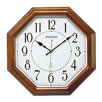 y-hui die achteckig Holz Uhren Quarz Wanduhr Wohnzimmer leise ...