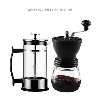 WAYERTY Ajustable Molinillos de café manuales, Molinillo de café Base de cerámica Máquina de café