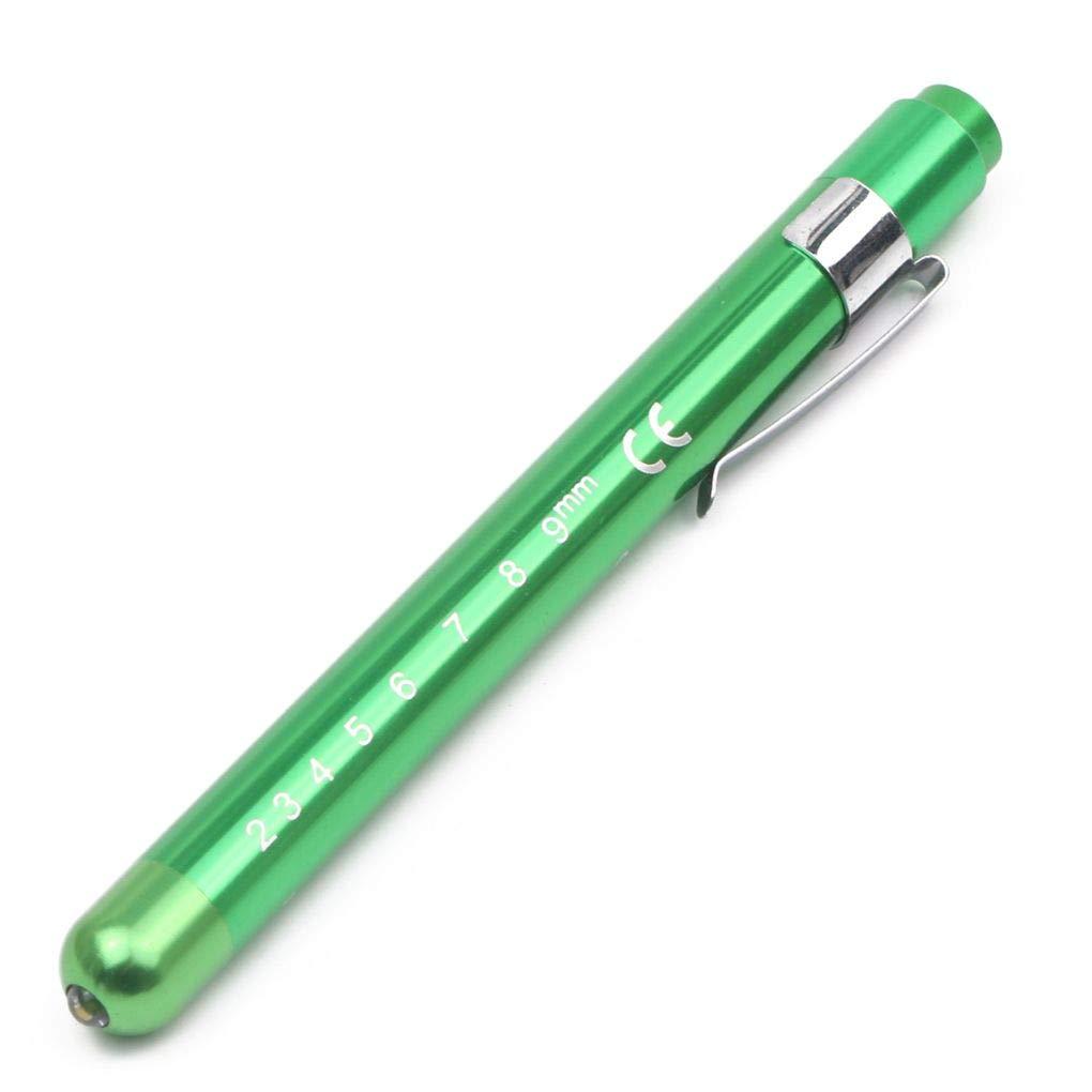 Floridivy Mini Stylo Jaune lumi/ère Blanche infirmi/ère LED Penlight /étudiants jauge pupillaires Portable Mini Lampe de Poche