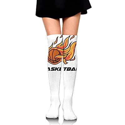 quanzhouxuhuixiefu Women Crew Socks Thigh High Over Knee Basketball Fire Dress Legging Casual Compression Stocking 50CM: Deportes y aire libre