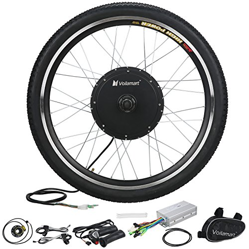 "Voilamart 26"" Front Wheel 48V 1000W Electric Bicycle Conversion Kit"
