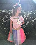 Baby Girl Unicorn T-Shirt Tops Colorful Tutu Lace