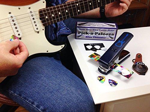 Pick-a-Palooza DIY Guitar Pick Punch with Leather Key Chain Pick Holder - Blue by Pick-A-Palooza (Image #6)