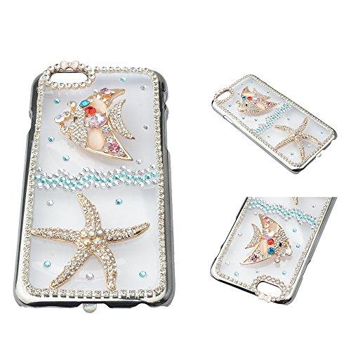EVTECH (TM) für iPhone 6 4.7 Inch Mitteilung auf 2014 3D Handmade Fashion Kristallrhinestone Bling Fall-Abdeckung Hard Case Clear (100% Handarbeit)