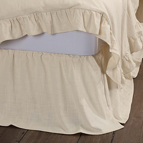 Ashley Single Bed - Piper Classics Ashley Natural Queen Bed Skirt, 60x80, 16