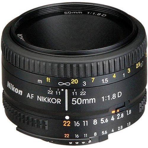 Nikon AF FX NIKKOR 50mm f/1.8D Lens with Auto Focus for Nikon DSLR Cameras (Certified Refurbished) by Nikon