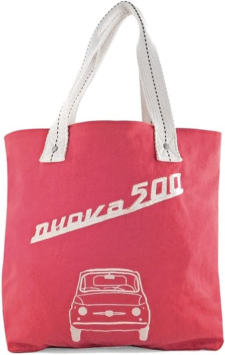 Fiat 500 Damentasche Canvas Front Rot