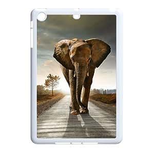 Ipad Mini 2D Personalized Hard Back Durable Phone Case with Elephant Image