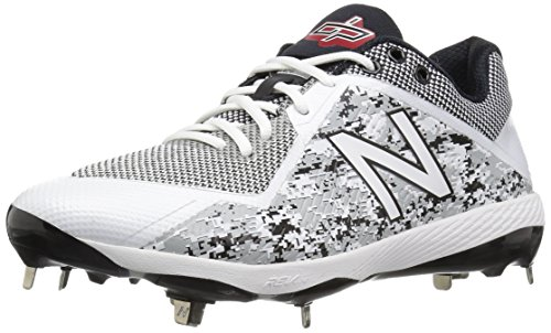 New Balance Men's L4040v4 Metal Baseball Shoe, Silver/Camo, 10.5 D US