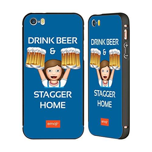 Officiel Emoji Chancelez À La Maison Oktoberfest Noir Étui Coque Aluminium Bumper Slider pour Apple iPhone 5 / 5s / SE