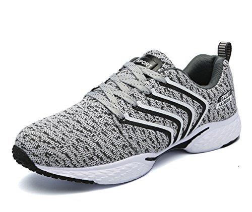 Men 's street outdoor sports shoes light non - slip sports shoes breathable mesh casual shoes Grey