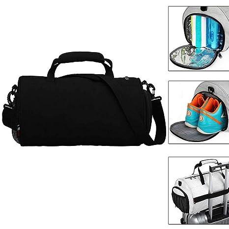 Women Men Sports Duffle Shoulder Bag Gym Luggage Large Backpack Outdoor Handbag