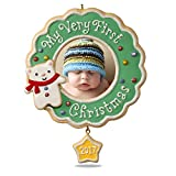 #6: Hallmark Keepsake 2017 My Very First Christmas Picture Frame Dated Christmas Ornament