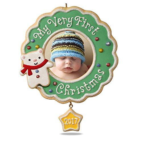 Hallmark Keepsake 2017 My Very First Christmas Picture Frame Dated Christmas Ornament (Personalized Baby First Christmas Ornament)