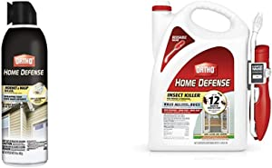 Ortho Home Defense Hornet & Wasp Killer7, 16 Oz & 0220910 Home Defense Insect Killer for Indoor & Perimeter2 with Comfort Wand Bonus Size, 1.1 GAL