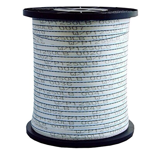 Seconds 1/2'' x 3000' 1250 Lb Detectable Wire Polyester Pull Tape/Mule Tape - USA Made
