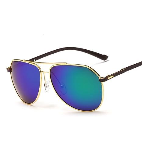 Gafas de Sol Gafas de Sol polarizadas para Hombres Gafas de Sol Retro con Lentes Brillantes