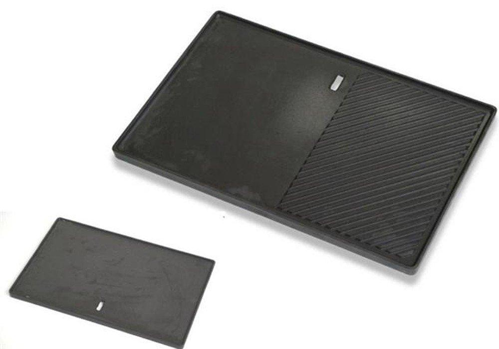 Santos Grillplatte Gusseisen - ca. 40,0 cm x 48,5 cm - Plancha, Wendegrillplatte, Steakplatte