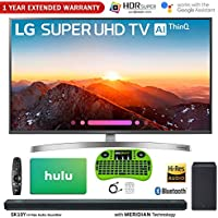 LG 49SK8000PUA 49-Class 4K HDR Smart LED AI Super UHD TV w/ThinQ (2018 Model) + LG SK10Y 5.1.2-Channel Hi-Res Audio Soundbar w/Dolby Atmos + Hulu $50 Gift Card + 1 Year Extended Warranty + More