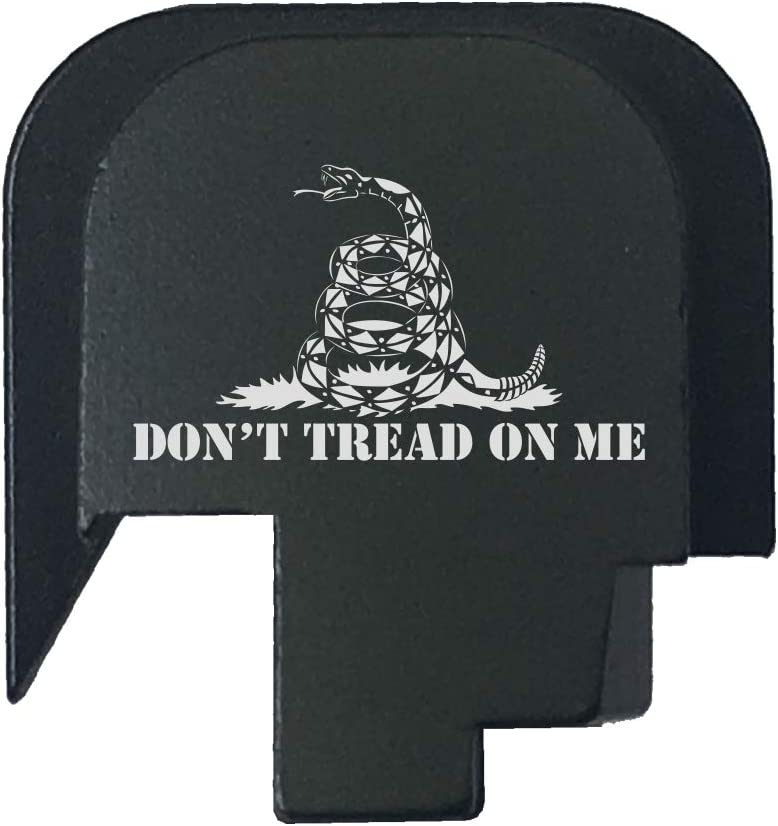 BASTION Laser Engraved Rear Cover Slide Back Plate for Smith & Wesson M&P 45 Shield SUBCOMPACT ONLY - Don't Tread On Me 51bvvIZQYML