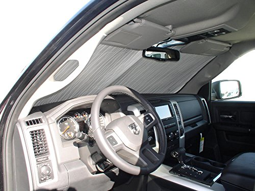 The Original Windshield Sun Shade, Custom-Fit for Ram 2500 Truck (Crew Cab) 2010-2019, Silver - Windshield Truck 2500