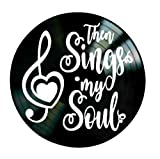 Christian song lyrics Then Sings My Soul on a Vinyl Record Wall Decor