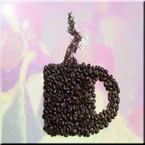 12 x 12 Rikki Knight Coffee Beans Mug Design Ceramic Art Tile