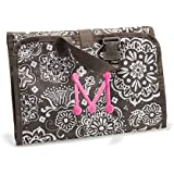Thirty One Timeless Beauty Bag Brown Woodblock Floral