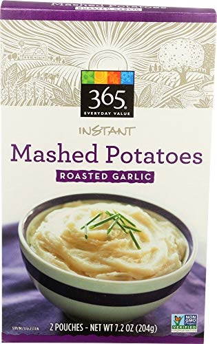 365 Everyday Value, Instant Mashed Potatoes Garlic, 7.2 Ounce