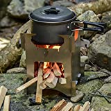 Prettyia Camping Folding Wood Stove Portable Compact Lightweight Outdoor Picnic BBQ Backpacking Cooking