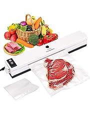 SKYECO 4-in-1 vacuümmachine voor thuis en professioneel vacuümverpakkers, met 20 vacuümzakken voor droge en vochtige levensmiddelen, zeer geschikt voor vlees, vis, snacks, groenten en fruit
