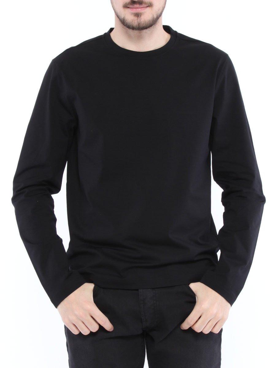 (プラダ) PRADA 無地 クルーネック ロングスリーブ Tシャツ [PRUJL565710] [並行輸入品] B07CY17CM9 L|ブラック ブラック L