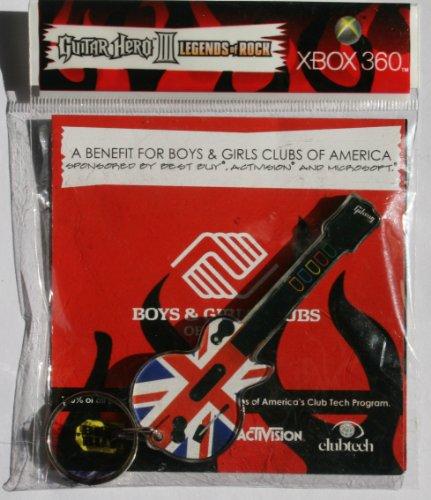 Guitar Hero III Best Buy UK Flag Keychain - Xbox 360 Countdown