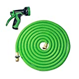 Swaroser Magic Pocket Hose with Double Latex Core High Pressure Washer Ultra Pocket Hose Havey Duty Tube Hose Improved Magic Hose Version Ultra Expandable 3X Stronger Fiber without Leaking Green 50FT