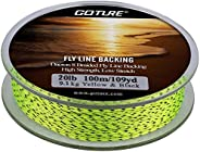 Goture Dacron Fly Fishing Backing Line for Trout Bass Pike in The Saltwater Freshwater 8 Strand Braided 109yd
