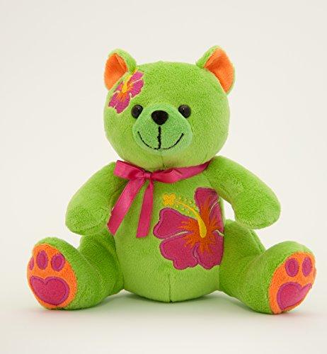 "Aloha Animals by SOCO - Stuffed Animals Makena Bear Soft Plush Toys - Hawaiian Aloha Best Gift for Children- 7"" - Aloha Bear Plush"