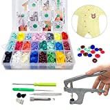 360pcs T5 Plastic Snap Button with Snaps Pliers for Sewing and Crafting (Organizer Storage Containers Included) (Button Pliers Set)