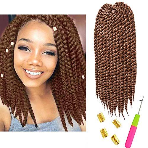 6Packs 12inch 27# Color Havana Twist Crochet Hair Mambo Twist Senegalese Crochet Braids Braiding Hair 12 roots/Pack ()