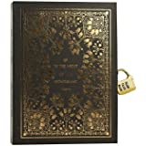 Zewik Classical mythology Abuse Golden Notebook With Password Lock-Classic Diary &Journal -lined Pages-Graduation gifts