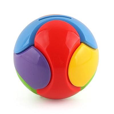 Amazemarket Des gamins Bébé Plastique Bâtiment Blocs Ballon Coin tirelire Créatif Empiler Enfants De bonne heure Éducatif Développement Jouet pour Enfants cadeau (Boule de construction