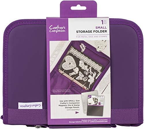 Crafter's Companion CC-STOR-DIE-S Stempel und Stempelspeicherordner Klein, Purple, Einheitsgröße