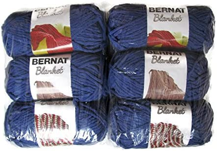 5.3Oz Bernat Blanket Yarn Navy