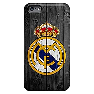Designed cell phone carrying covers Cases Covers Protector For Iphone Shock Absorbing iphone 6 plusd 5.5 - real madrid logo