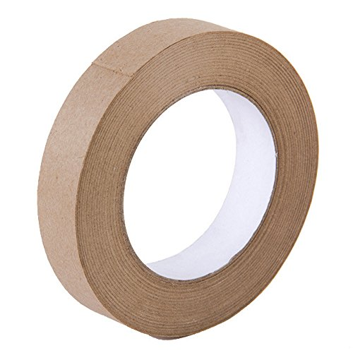 Gummed Paper Tape - Looneng Water Activated Gummed Kraft Paper Tape - 24mm Width x 54.7 yd Length - Stretching Paper, Tamper Evident