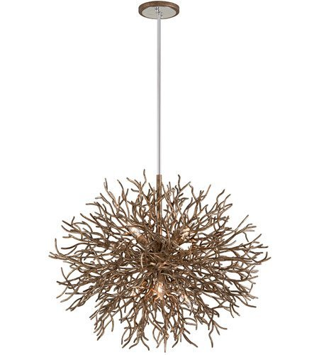 (Pendants 6 Light with Distressed Bronze Finish Hand-Worked Iron Material Candelabra 26 inch Long 360 Watts)