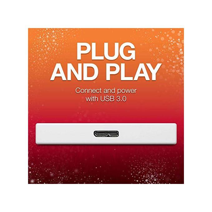 Seagate Backup Plus Slim 1TB External USB 3.0 Portable Hard Drive Light Blue