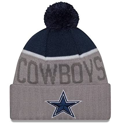 797b47ab6 Image Unavailable. Image not available for. Color: Dallas Cowboys Gray  Sport Hat Knit Beanie Jersey Sweatshirt ...