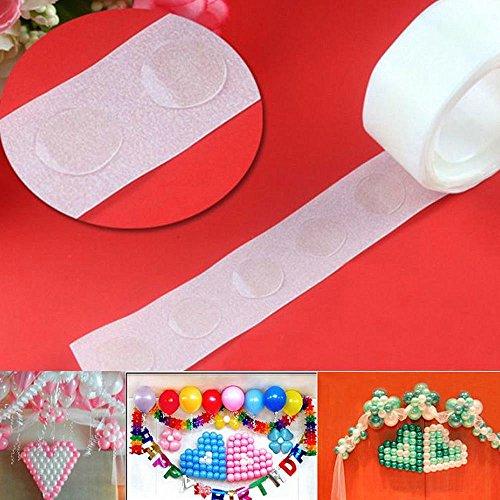2X 100 Dots Removable Adhesive Glue Dot Foil Balloon Wedding Birthday Decor Tape (Foil Dots)