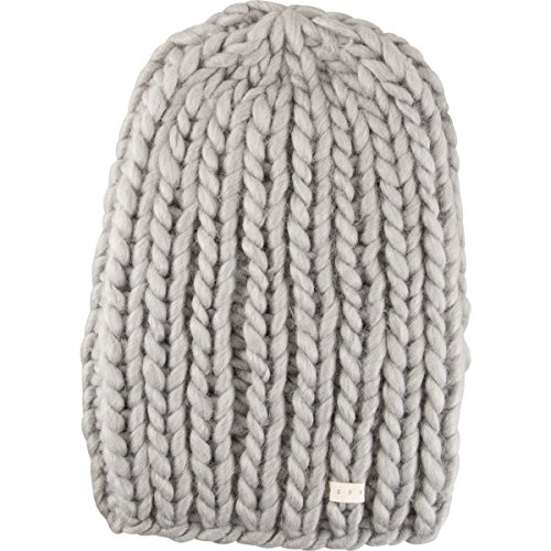 Neff Women's Cara Textured Beanie with Oversized Yarn, Grey Heather, One Size