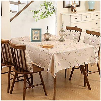 WENXIAOXU Mantel para Mesa de Cocina Salón Rectangular Impermeable ...